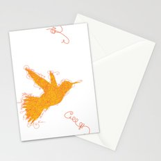 Bird Fly No. 1  (orange) Stationery Cards