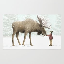 Winter Moose Rug
