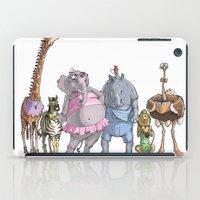 animal crew iPad Cases featuring Animal Mural Crew by Michael Jared DiMotta Illustrations