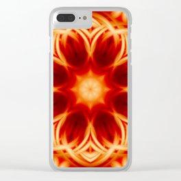 Fire Lotus Mandala Clear iPhone Case
