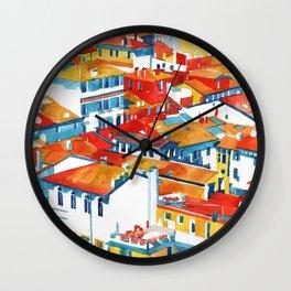 Verona buildings Wall Clock