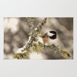 Chickadee and Old Man's Beard - Algonquin Park Rug