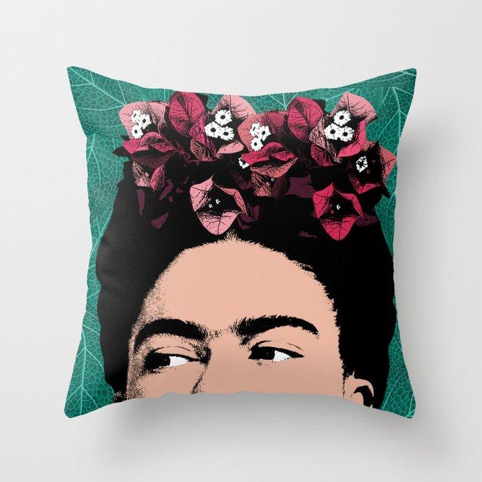 Floral Frida Throw Pillow