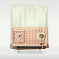 cassia beck Shower Curtains featuring Easy Listening by Cassia Beck