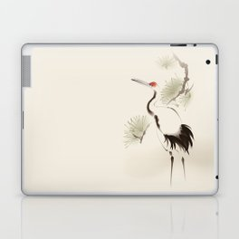 Oriental Red-Crowned Crane 002 Laptop & iPad Skin