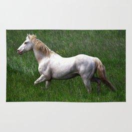 BEAUTIFUL WHITE HORSE Rug