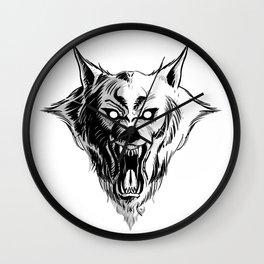 Werewolf Head Wall Clock