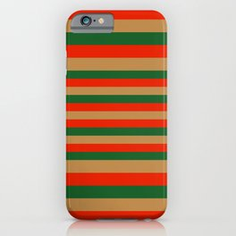 Chfristmas Stripes iPhone Case