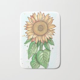 Cheerful Sunflower Bath Mat