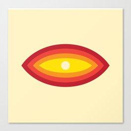 Vintage 70's Rainbow Eye Canvas Print
