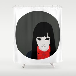 Black Eyed Kid Shower Curtain