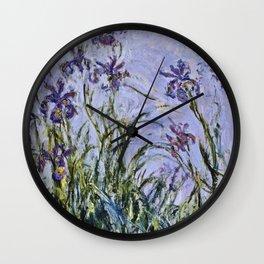 Claude Monet - Iris Jaune Wall Clock