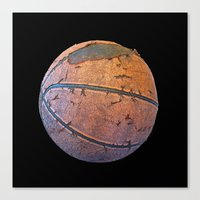 basketball Canvas Prints featuring Basketball by gbcimages