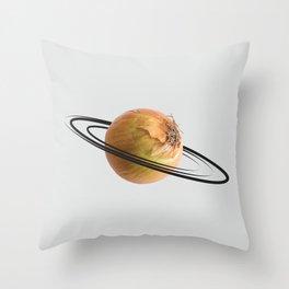 onion saturn Throw Pillow