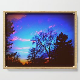 Colorful Sky (vintage) Serving Tray