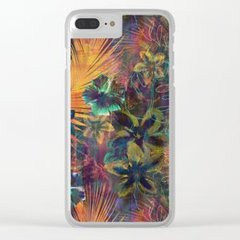 Haleiwa Tropical Orange Clear iPhone Case