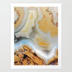 Autumnal Agate Art Print