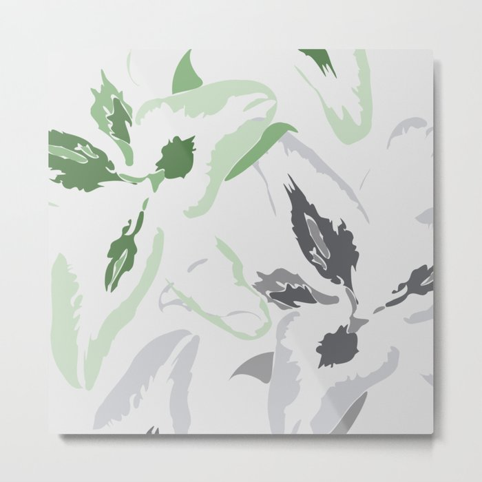 FLORAL ABSTRACTION 2 Metal Print