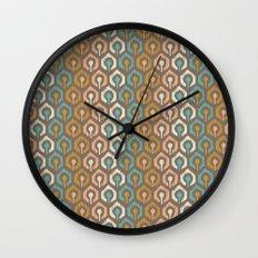 Honeycomb IKAT - Cocoa Wall Clock