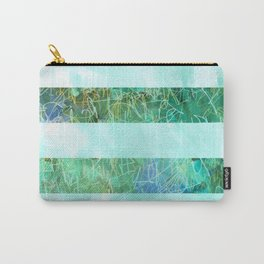 Turquoise Stripes Carry-All Pouch