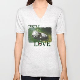 Turtle Love Unisex V-Neck