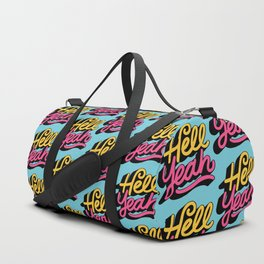 hell yeah 002 x typography Duffle Bag