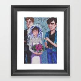 Love Action Framed Art Print
