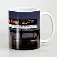movies Mugs featuring Movies over here by Vorona Photography