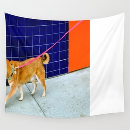 Love, Love, Love My Pink Leash Wall Tapestry