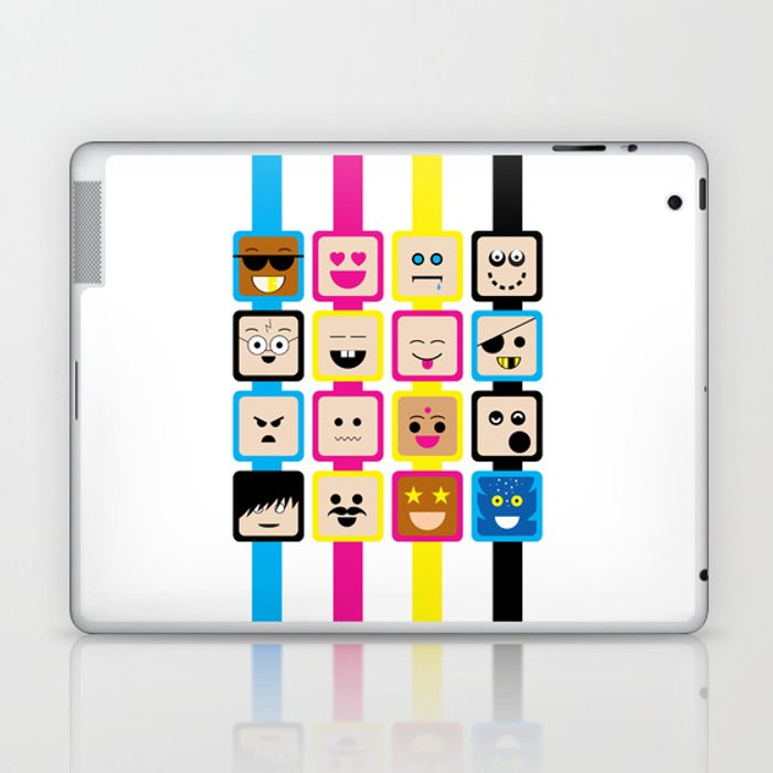 People of all Colors Laptop & iPad Skin