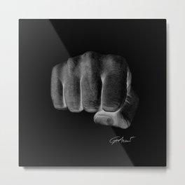 Combatti - Fight Inverted Metal Print