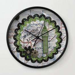 Awesome London Green Wall Clock