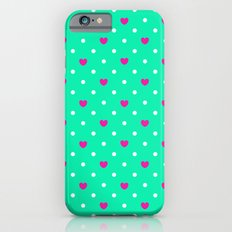 Polka hearts iPhone 6s Slim Case