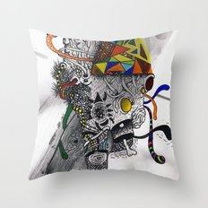 Psychoactive Bear 7 Throw Pillow