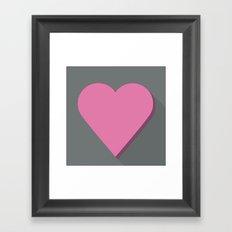 Flat heart Framed Art Print