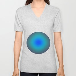 Hazy Blue Green Medley Unisex V-Neck