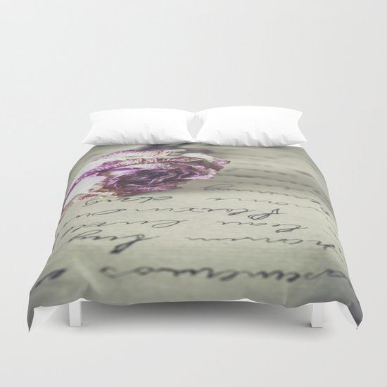 Love letter Duvet Cover