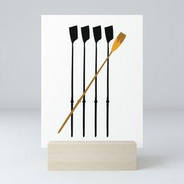 Rowing Oars 4 Mini Art Print