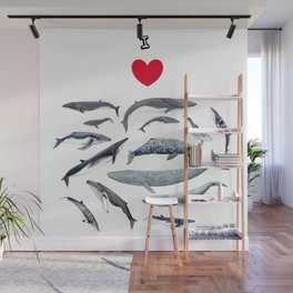 I love whales design Wall Mural