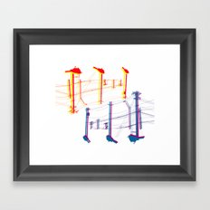 They Wait Framed Art Print
