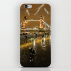 Lightning In London iPhone Skin
