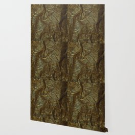 Gold and copper glitter wall Wallpaper