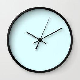 Cyan Soft Blush Solid Palette Pastels Décor Colour Blocks Wall Clock