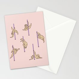 Sloths Pole Dancing Club Stationery Cards
