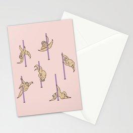 Sloths Pole Dancing Club Stationery Cards