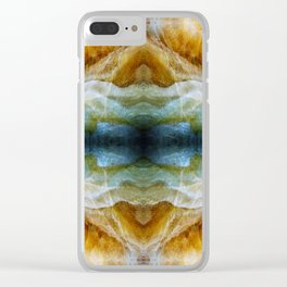 Abstract Mineral Crystal Texture Clear iPhone Case