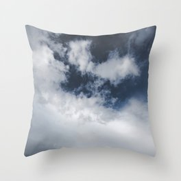 Landsape Waterton Meadow and Rolling Hills | Nature | Skyscape Clouds Throw Pillow