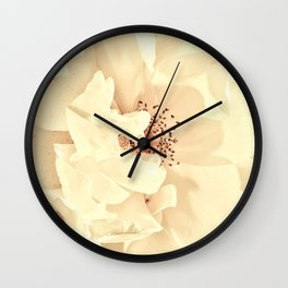 Sandy Pink Roses With Bokeh Wall Clock