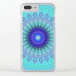 Frozen mandala Clear iPhone Case