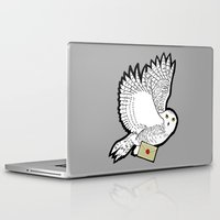 hedwig Laptop & iPad Skins featuring Hedwig by AriesNamarie